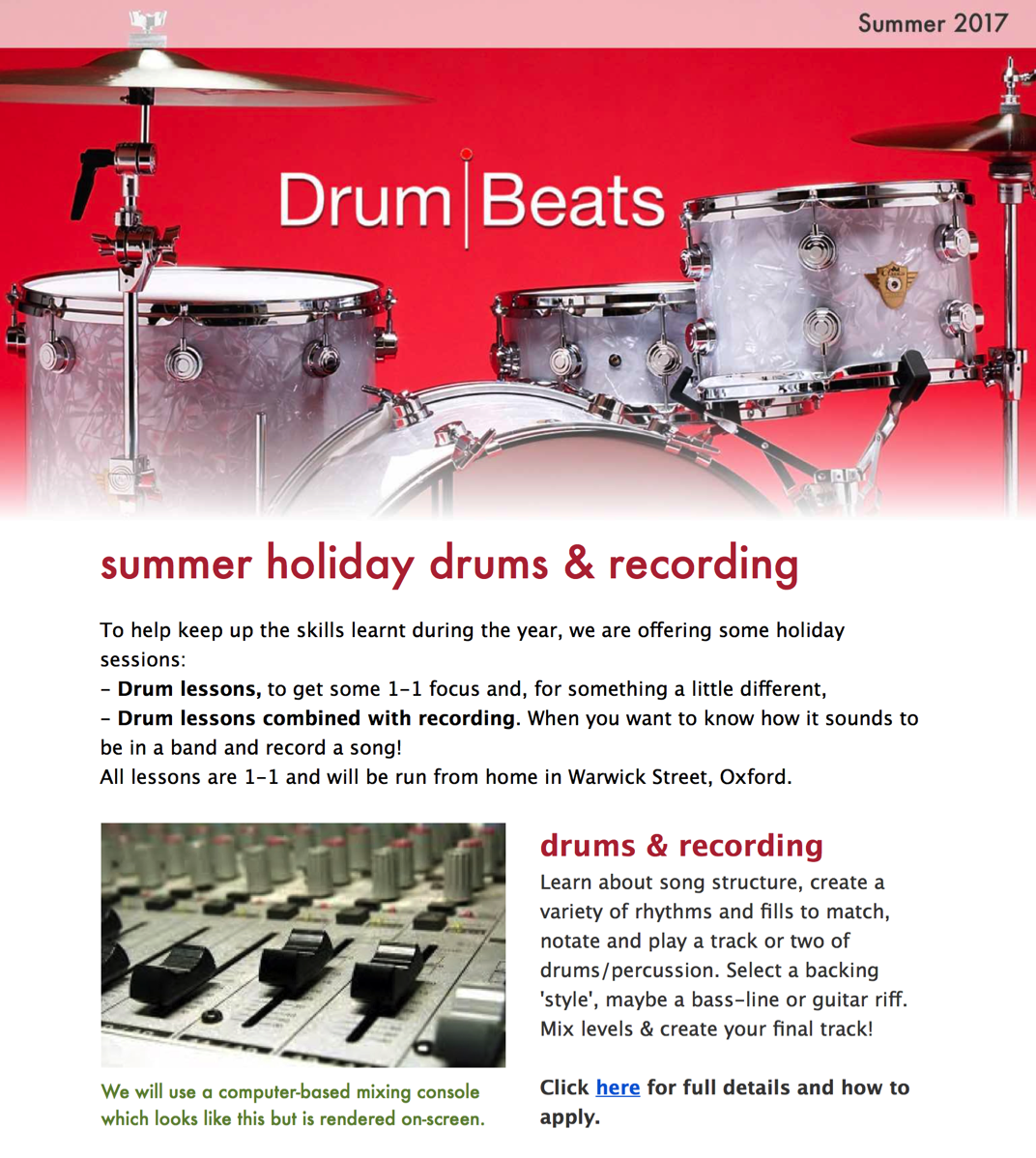DrumBeats Home